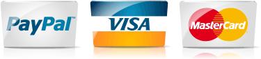 Formas de pago - Paypal Mastercard Visa
