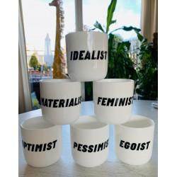 Tazas de cerámica estado de ánimo
