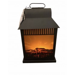 Chimenea artificial con luz de led grande